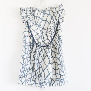 Lil silk Anthropologie nautical print marine light